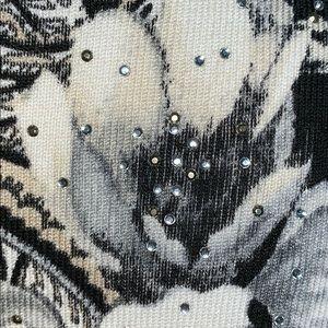 White House Black Market Sweaters - WHBM 3/4 sleeve black & white snap close sweater